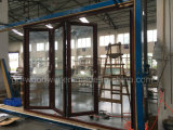 Lowe glacé par double fait personnalisé porte de pliage en verre de balcon/porte de Bifolding