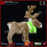 Renne mou de peluche de jouet de caribou de peluche de cadeau de promotion pour des gosses