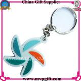 Porte-clés en plastique à prix bon marché avec design client