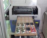 6 impresoras ULTRAVIOLETA planas de Digitaces de la tinta de los colores del teléfono de la impresora blanca de la caja