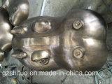 금 까만 하마 헤드 조각품, 구리 Blacksmithing 의 옥외 정원 훈장