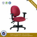 Presidenza di parte girevole di nylon del tessuto rosso delle forniture di ufficio dell'impiegato (Hx-E047)