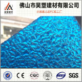 Feuille de plastique polycarbonate transparent gaufré Diamond Foshan Feuille de PC