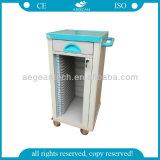 Chariot de bonne qualité à infirmière d'ABS de patient hospitalisé AG-Cht004