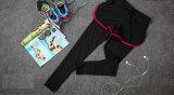 Los pantalones de la compresión de las señoras que activan venta al por mayor de la yoga jadean la ropa de la mujer