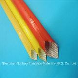 Sleeving elétrico trançado da isolação do fio da fibra de vidro revestida do plutônio da classe 155c de 4.0kv F