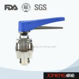 الفولاذ المقاوم للصدأ دليل الملحومة الصحية صمام فراشة (JN-BV1001)
