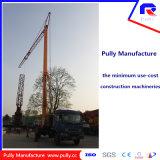 Guindaste de torre móvel Foldable interno do comprimento 28m de patíbulo de Genset da manufatura da polia (MTC28065)