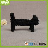 Gato Cuerda juguetes para mascotas Negro algodón