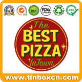 Personalizado em volta do sinal do estanho do metal da pizza para o restaurante que anuncia a placa