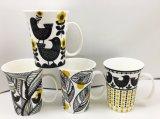 Linhas de cor simples caneca cerâmica nova dos projetos novos de China de osso