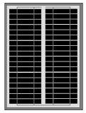 poli comitato solare 20W per indicatore luminoso solare