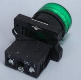 22mm de Spiebaan van de Schakelaar van de Drukknop met Rood/Groen/Geel