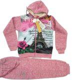 Hot Transfer Print Enfant Vêtements en polaire Hoodies avec costumes Pantalon Sq-17117