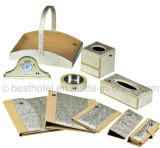 Fashion Hotel Bathroom Accessory Set Guest Room Artigos de couro durável