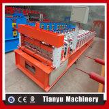 Stahldach-Fliese-Metallblech-Rolle, die Maschine bildet