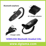 Auriculares com fone de ouvido Bluetooth com adaptador de carregador e cabo de carregador USB