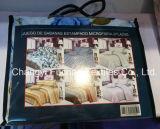 Los conjuntos polivinílicos del lecho se dirigen el edredón y las fundas de almohada de la materia textil hechos en China