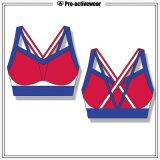 Kundenspezifischer Polyesterspandex-Sport, der Großhandelssport-Yoga-Büstenhalter kleidet