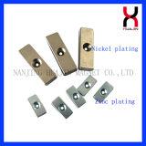Forte magnete permanente di figura di /Block del magnete di NdFeB con il foro svasato