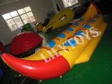 Популярный самый горячий тип шлюпка PVC банана желтого цвета раздувная для озера