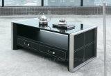 Chinesischer Möbel-Tee-Tisch mit Edelstahl (CT-V1)