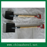 Shovel Garden Tool Pá de aço ferroviária com alça de madeira