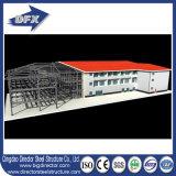 Edificios de marco de acero aislados Pre-Dirigidos del espacio de la estructura de Peb con los paneles solares