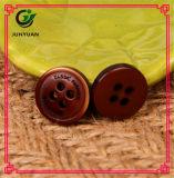 Botão de vestido de fivela de padrão de café Botão revestido de resina