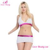 Напористо плюс комплект размера белый и розовый бюстгальтера