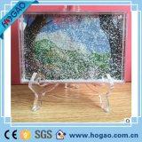 Photo Frame exibe Multi-Shaped água plástica Globo de neve para o comércio por grosso