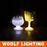 색깔 변화 먼 LED 플라스틱 얼음 양동이 LED 빛