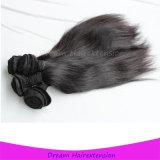 8A加工されていないバージン100の人間の毛髪のモンゴルの直毛