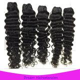 Häutchen-Intact tiefe Wellen-unverarbeitetes preiswertes brasilianisches Jungfrau-Haar