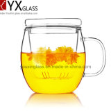 500ml耐熱性ホウケイ酸塩ガラスのコップのセットされるか、またはハンドメイドの新式の単一の壁のガラスティーカップセットか飲むガラスのティーカップまたはマグ