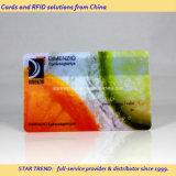 Cristal em PVC transparente Cartão de negócios de plástico com cores completas