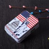 Vente chaude cadeau promotionnel Cookie Tin Tin Case à cocher, rectangulaire, Vintage boîte