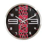Orologio di parete di vendita caldo rosso e nero del quarzo del metallo