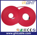 Cavo piano di alta qualità rossa HDMI (F016)