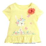 소녀 아이 아이에 의하여 인쇄되는 면 t-셔츠