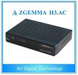 Caixa Multi-Media Zgemma H3 do jogador. Afinadores do ósmio Enigma2 DVB-S2+ATSC do linux do receptor satélite da C.A.