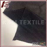 Tessuto 100% di maglia spazzolato nero del poliestere