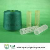 Poli filato filato del reticolo grezzo Ne60s/2 per cucire