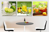 Der 3 Stück-heiße Verkaufs-druckt die modernen Wand-Farbanstrich-Früchte, die dekorative Wand-Kunst-Hauptabbildung angestrichen auf Segeltuch-Haus anstreichen, Mc-195