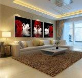 Искусствоо стены 3 частей самомоднейшее напечатало покрашенное изображение искусствоа комнаты картины лебедя картины обрамленное декором на украшении Mc-234 дома холстины