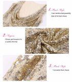 Robe de soirée de robe de soirée de femmes de robe d'or longue