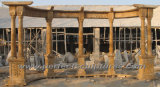 Casting Iron Top (GR034)のMarbleの石造りの庭Gazebo