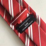 Relation étroite d'école de cravate tissée par polyester 100% fabriqué à la main de mode de Mens (L033)