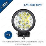 7.0 pulgadas CREE LED 5W combinado la luz de conducción de 80W