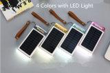 10000mAh 3 USB LED 가벼운 컴퓨터 전력 공급을%s 가진 지적인 태양 전지 전화 힘 은행